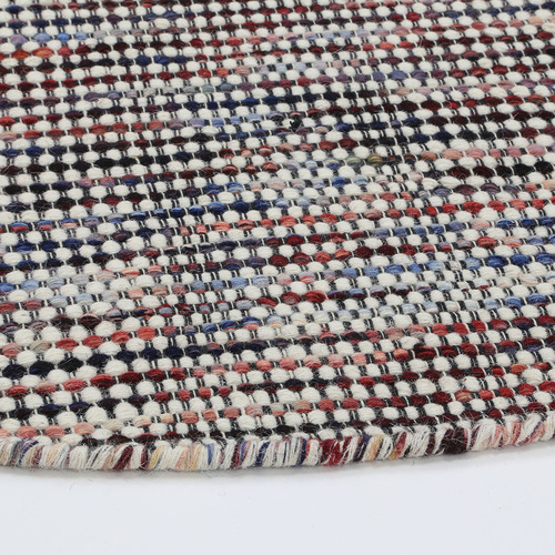 Lifestyle Floors Multi Coloured Skandi Hand Woven Wool-Blend Round Rug