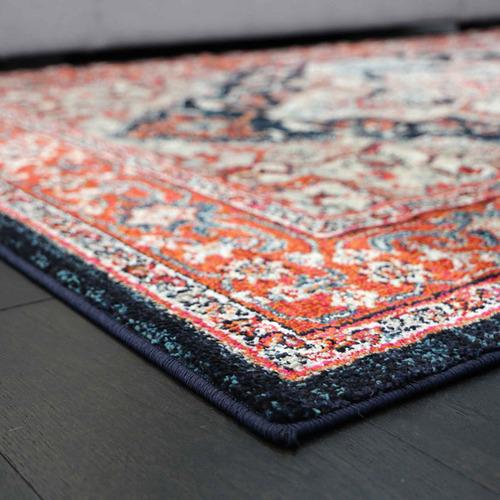 Lifestyle Floors Red & Navy Simone III Rug