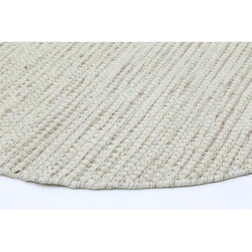 Lifestyle Floors Ivory Skandi Hand Woven Wool-Blend Round Rug