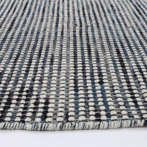 Teal Skandi Reversible Wool-Blend Rug