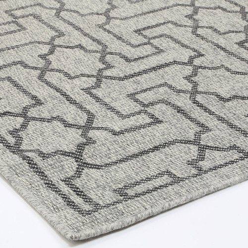 Lifestyle Floors Black & Grey Polo Jolene Patio Rug