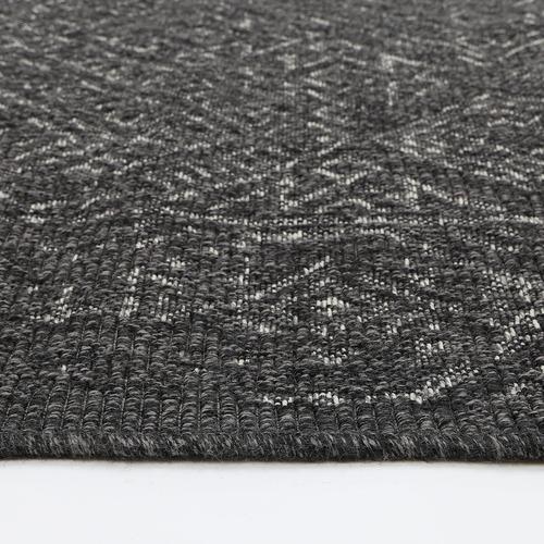 Lifestyle Floors Black Polo Saundra Patio Rug