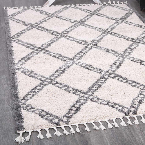 Lifestyle Floors Cream & Grey Diamond Kasper Rug