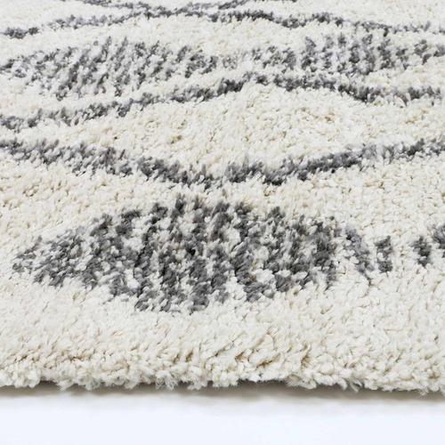 Lifestyle Floors Cream & Silver Tribal Kasper Rug
