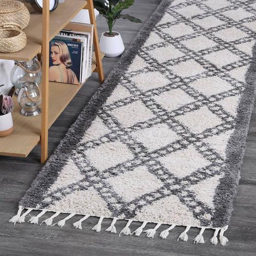 Lifestyle Floors Cream & Grey Diamond Kasper Runner