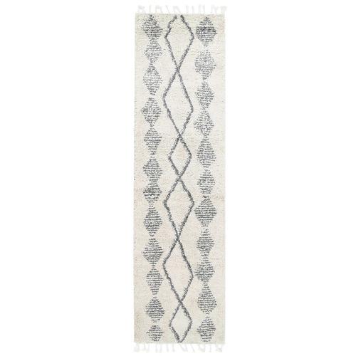 Lifestyle Floors Cream & Silver Tribal Kasper Runner