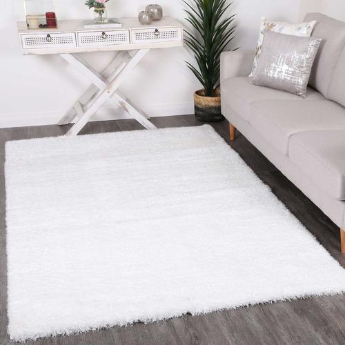Lifestyle Floors White Eden Soft Shag Rug