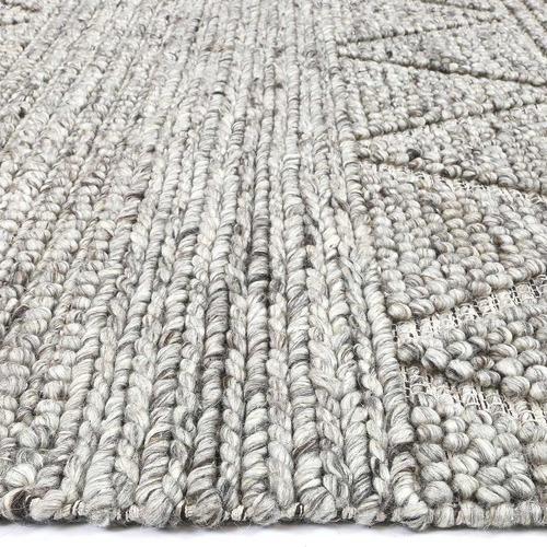 Ash Sawtooth Flat Weave Wool-Blend Rug