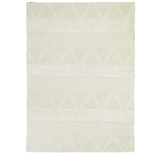 Lifestyle Floors Ivory African-Inspired Flat Weave Wool-Blend Rug