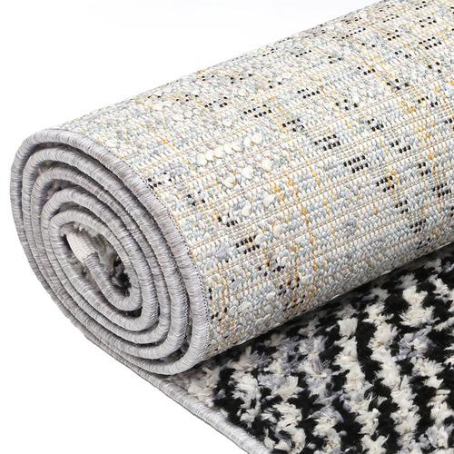 Lifestyle Floors Black Myk Geometric Rug