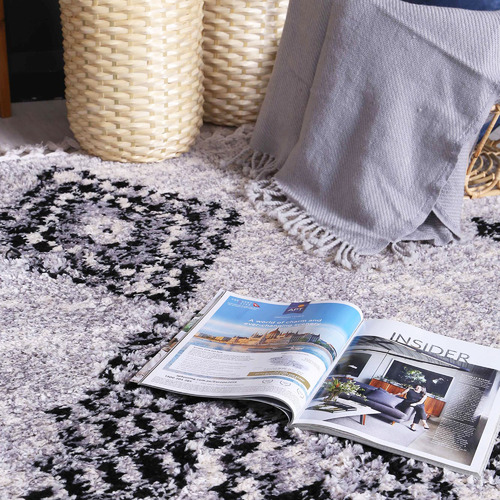 Lifestyle Floors Grey Myk Diamond Rug