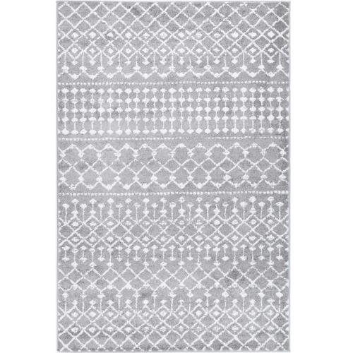 Grey & White Bergen Altan Power Loomed Rug