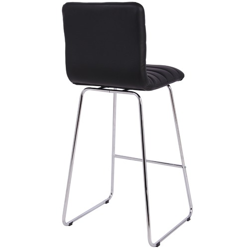 Allen Chrome & Faux Leather Barstool