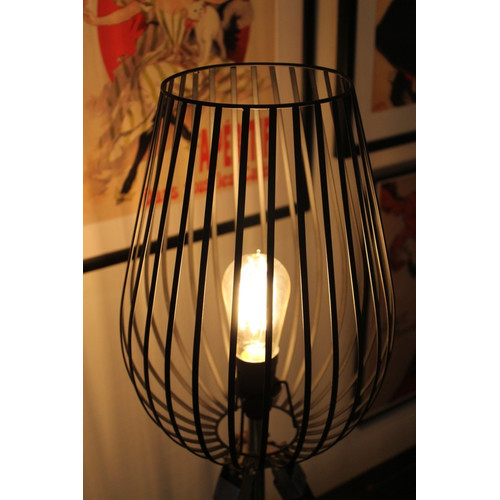 Tripod table lamp with wire cage light shade temple webster fat shack vintage tripod table lamp with wire cage light shade keyboard keysfo Choice Image
