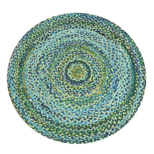 Cotton Green Round Rug