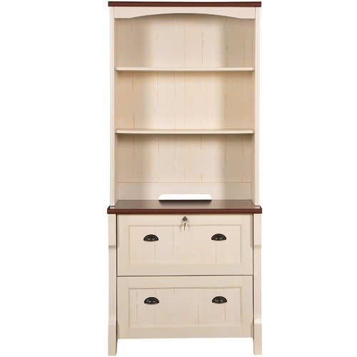 Corner Office Benny Lateral Cabinet with Hutch