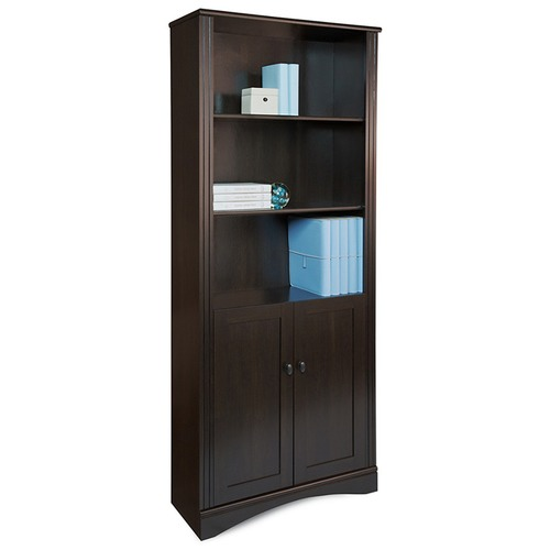 Corner Office Cubic 3 Shelf Bookcase with Cupboard
