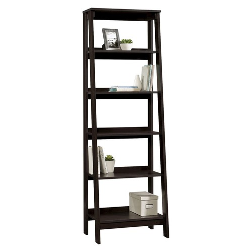 Corner Office Walnut Florentine Bookcase Shelving Unit