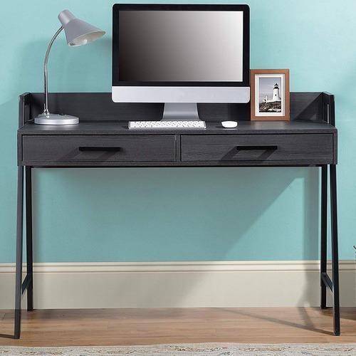Corner Office Dark Timber Rosalind Writing Desk