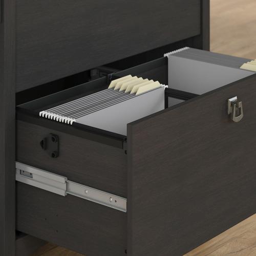 Corner Office Vintage Black Salinas 2 Drawer Lateral File Cabinet