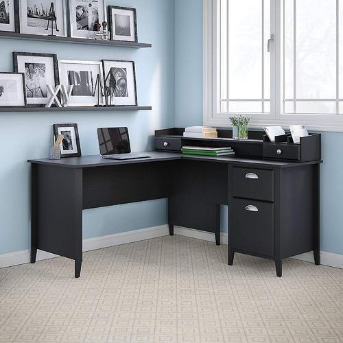 Corner Office Connecticut L-Shaped Desk with Desktop Organiser