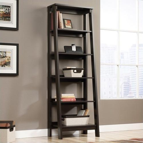 Corner Office Walnut Florentine Bookcase Shelving Unit