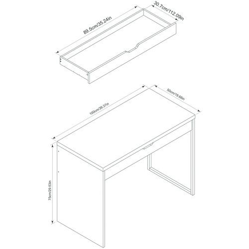 Corner Office 2 Piece Carson Laptop Desk & Mobile Pedestal Set