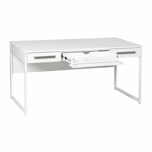 Corner Office White Sheridan 3 Drawer Desk