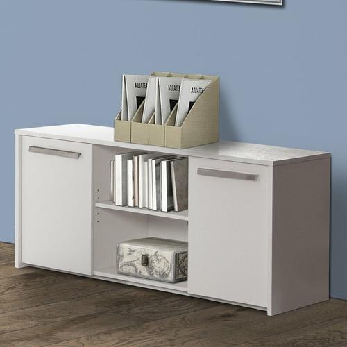 Corner Office White Sheridan Storage Cabinet