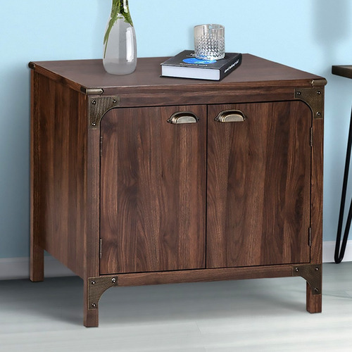 Corner Office Dark Timber Morrison 2 Door Cabinet