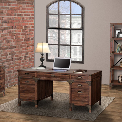 Corner Office Dark Timber Morrison Executive Desk
