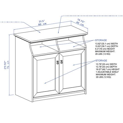 Corner Office Grey & White Bronville 2 Door Storage Cabinet