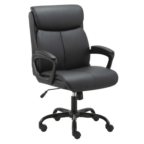 Corner Office Puresoft Mid-Back Faux Leather Office Chair