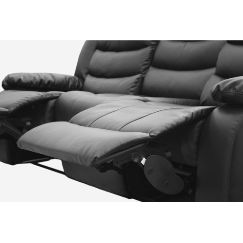 Southern Stylers Dream Lounge Sofa Bonded Leather Recliner 3 Seater  sc 1 st  Temple \u0026 Webster & Dream Lounge Sofa Bonded Leather Recliner 3 Seater | Temple \u0026 Webster islam-shia.org