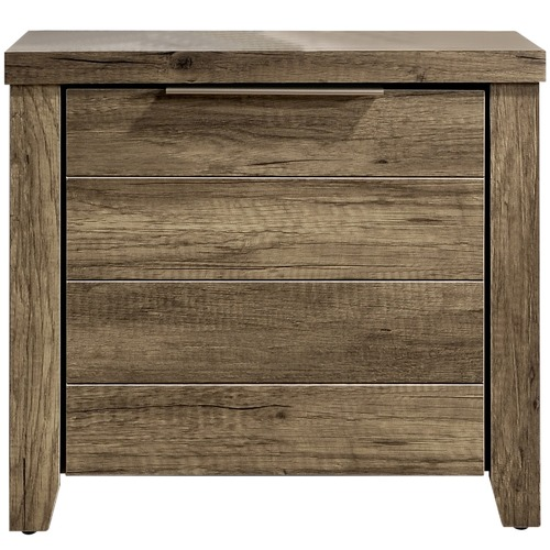 Southern Stylers Alexa 2 Drawer Bedside Table