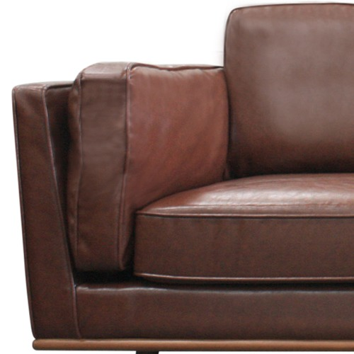 Southern Stylers Brown Brooklyn Faux Leather 2 Seater Sofa