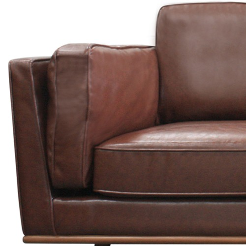 Southern Stylers Brown Brooklyn Faux Leather 3 Seater Sofa