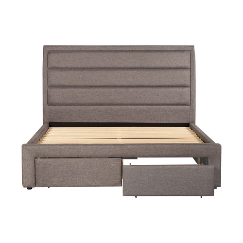 Southern Stylers Grey Megan Queen Storage Bed Frame