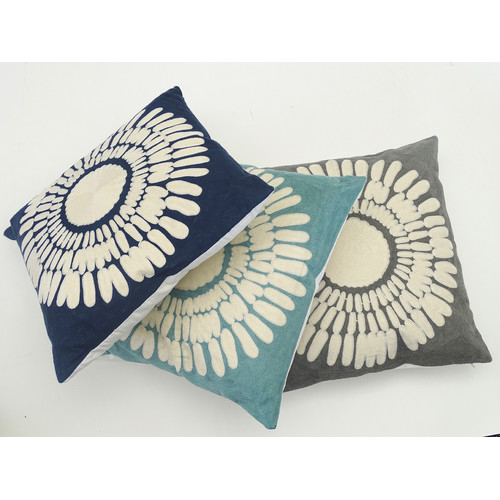 The Medford Collective Isa Blue Cushion