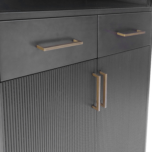 The Medford Collective Ferris Corrugated Metal Cabinet