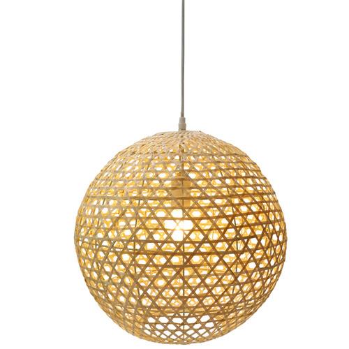 The Medford Collective Titi Rattan Pendant Light