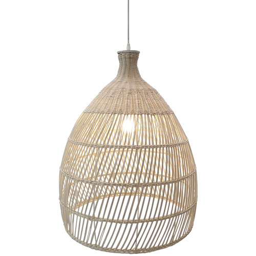 The Medford Collective Tuki Rattan Pendant Light