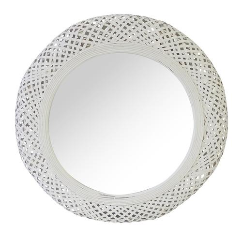 White Miara Round Mirror