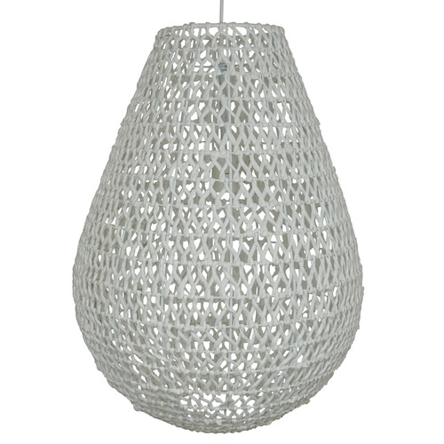 The Medford Collective Large Teva Rattan Pendant Light