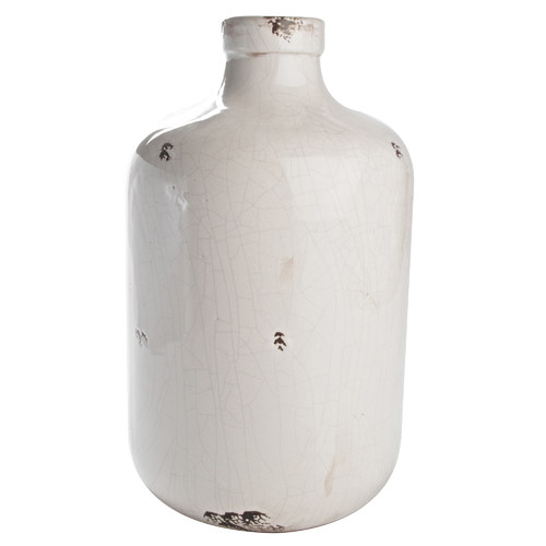 Lifestyle Traders Glazed Ceramic Urn