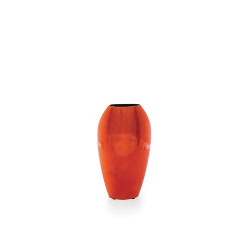 Tall Flat Vase In Orange Temple Webster