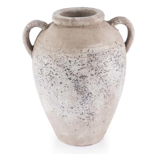 Lifestyle Traders Distressed Ceramic Amphora Vase