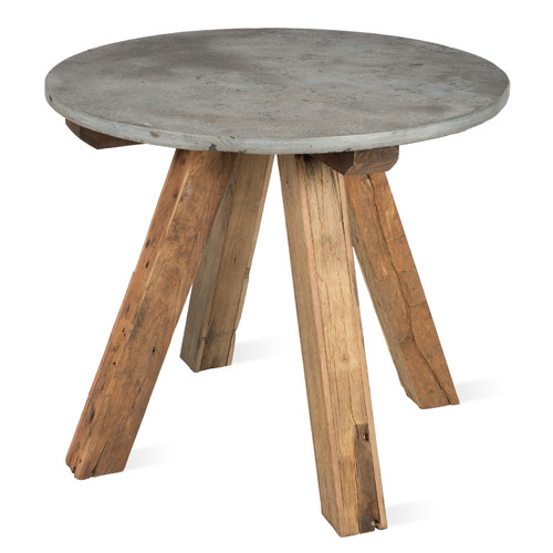 4 seater recycled wood dining table with round stone top for 12 seater dining table sydney