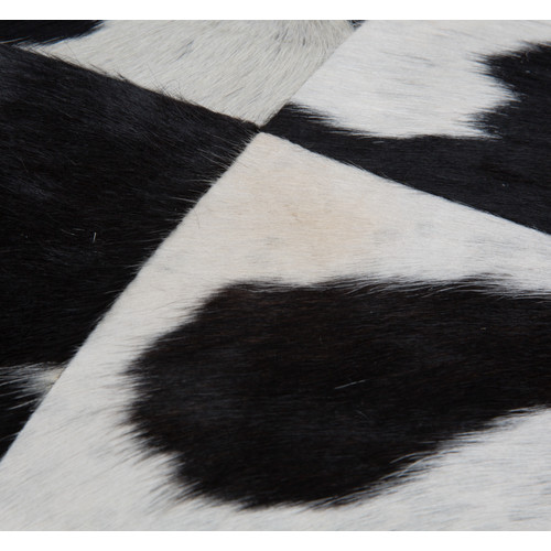 Lifestyle Traders Black & White Square Block Cow Hide Cushion