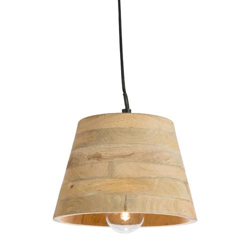 Mango wood pendant antique light with raw aluminium canopy lifestyle traders mango wood pendant antique light with raw aluminium canopy aloadofball Image collections